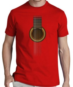 TSHIRT GUITARE ROUGE
