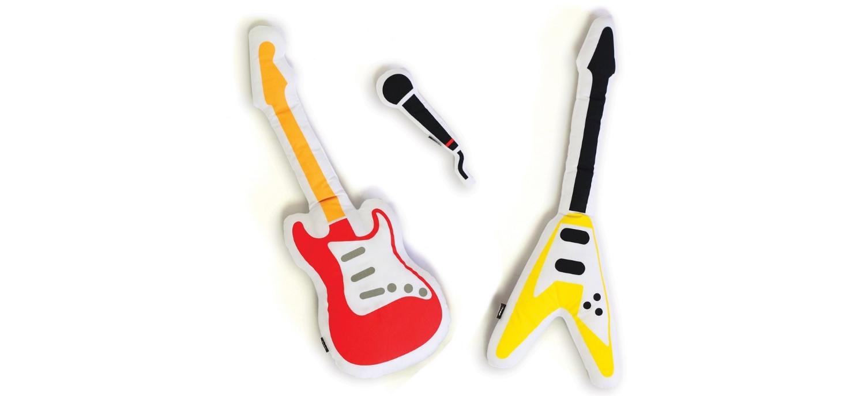 3 Petits Coussins En Forme D'instruments De Musique