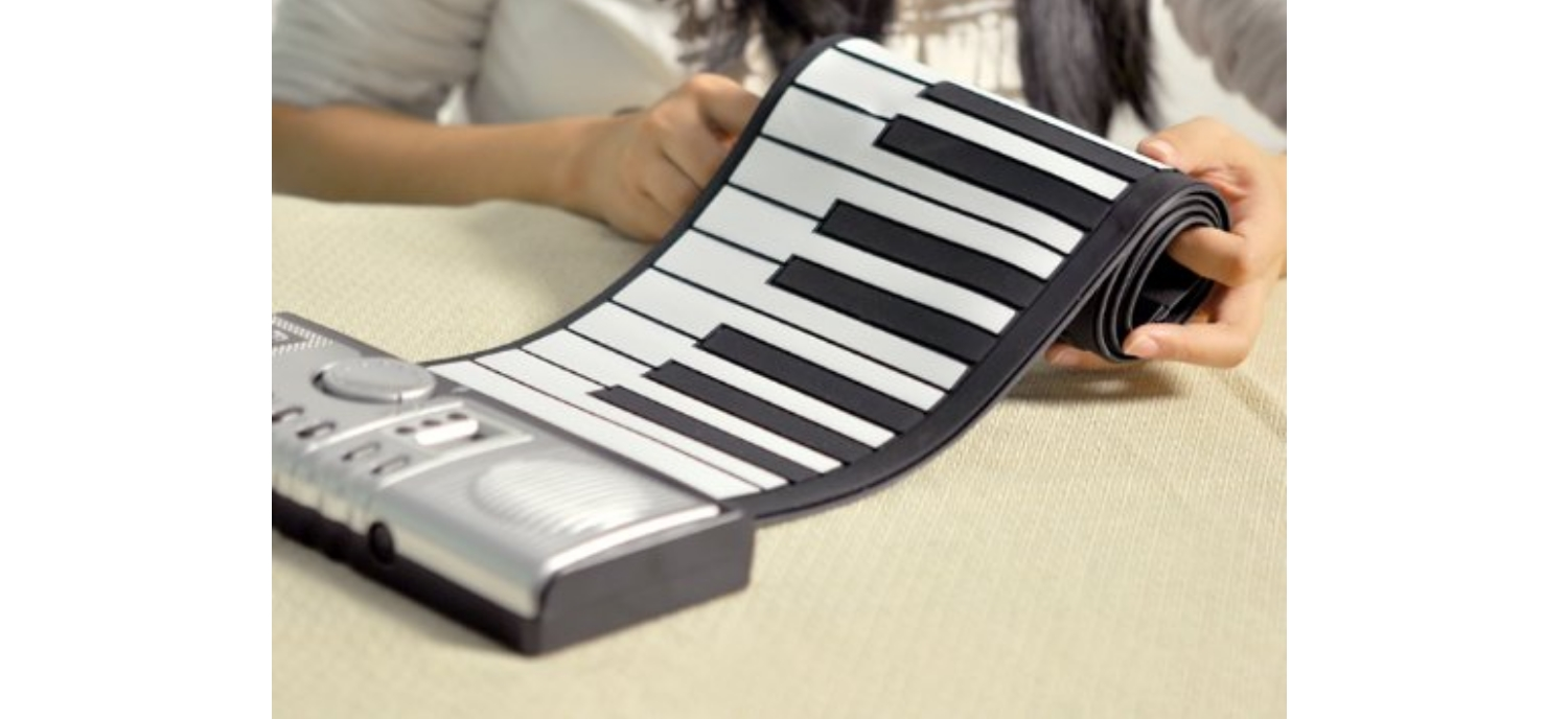 A Piano With Soft Keyboard