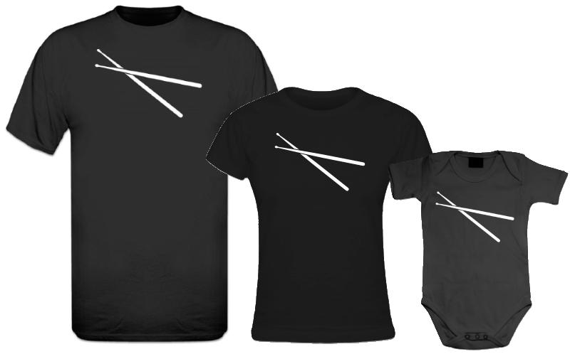 Un T-shirt Imprimé Baguettes De Batterie