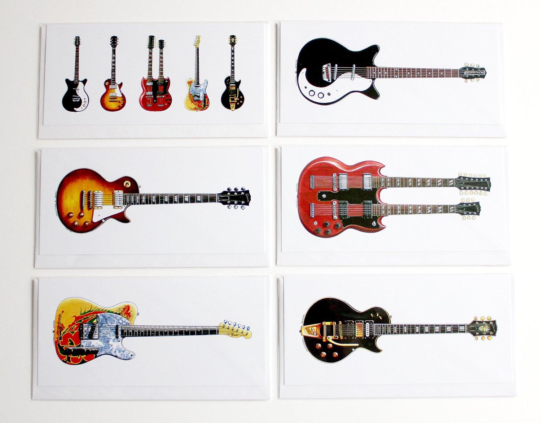 guitares jimi page 6 cartes de voeu