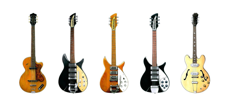 guitares john lennon carte anniversaire
