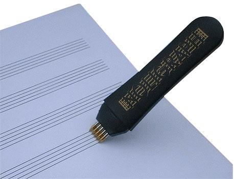 un stylo de musicien pour cr er des partitions en 15. Black Bedroom Furniture Sets. Home Design Ideas