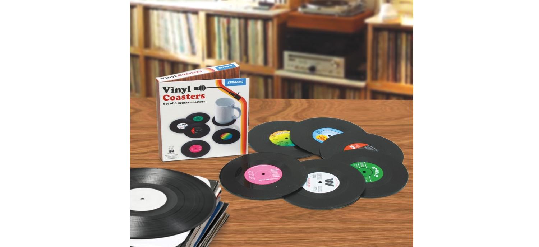 Des Dessous De Verre En Forme De Platines Vinyl