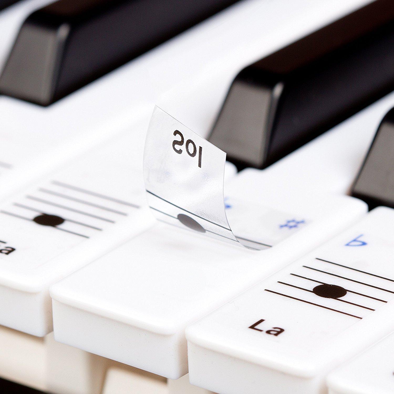 des autocollants amovibles pour d buter au clavier cadeaux pour musiciens. Black Bedroom Furniture Sets. Home Design Ideas