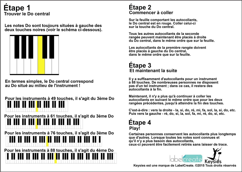 Des autocollants amovibles pour d buter au clavier cadeaux pour musiciens - Comment enlever un autocollant ...