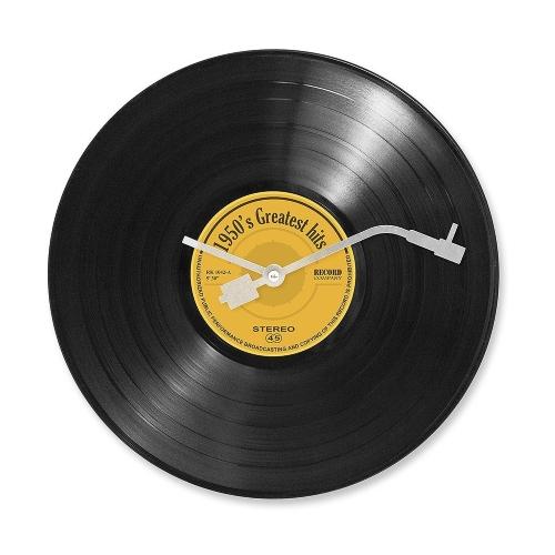 une horloge murale disque vinyl aiguilles de tourne disque cadeaux pour musiciens. Black Bedroom Furniture Sets. Home Design Ideas